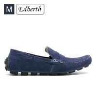 Jual Sepatu Pria Edberth Alvaro Gonzalo Slip On Blue Men Murah