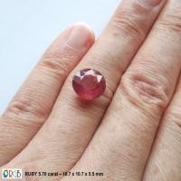 Jual Natural Ruby 5.70 Carat - Round Murah