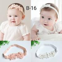 Jual bando tri flower untuk bayi dan anak bandana headband Murah