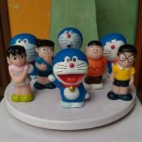 Jual mainan anak figure hiasan kue pajangan dashboard mobil doraemon nobita Murah