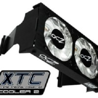 OCZ XTC RAM / Memory Cooler Blue LED Dual Fan