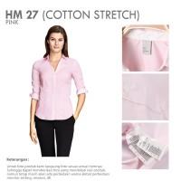 Jual HM Pink Branded Basic Office Shirt | Kemeja Kantor Lengan Panjang Murah