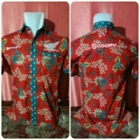 Kemeja Batik Honda Scoopy | Baju Otomotif | Baju Kantor