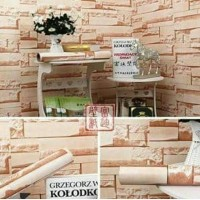 Motif 3D Batu Alam - Wallpaper Sticker Dinding 45cm x 10 meter