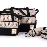 Jual 259  Tas bayi POLKADOT  travelling bag 5 IN 1 multifungsi diaper bag Murah