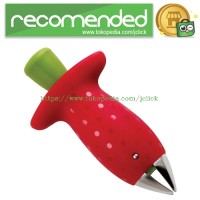 Stem Gem Strawberry Huller / Pemotong Strawberry - Red