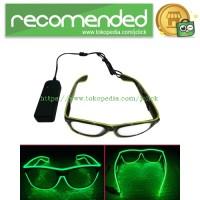 Kacamata DJ Glow LED - Green