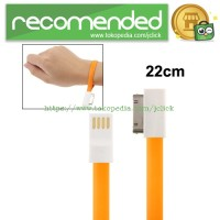 Pure Color Noodle Bracelet Style Magnet USB to Dock Cable for iPhone 4