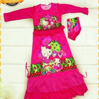 Jual gamis hello kitty melody pink collection Murah