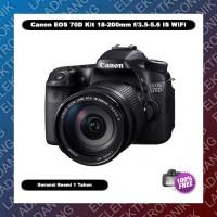 Canon EOS 70D Kit 18-200mm IS WiFi - Garansi Resmi