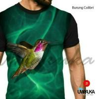 Harga kaos 3d fullprint burung colibri | WIKIPRICE INDONESIA