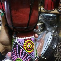 Jimbe Tinggi 20 cm - Alat Musik Tradisional Jawa - Mainan Anak Murah