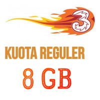 Paket Internet/Paket Data Kuota 3/tri/three Voucher/Injek 8 GB