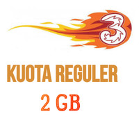 Paket Internet/Paket Data Kuota 3/tri/three Voucher/Injek 2 GB