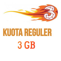 Paket Internet/Paket Data Kuota 3/tri/three Voucher/Injek 3 GB