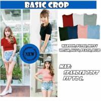 Jual T shirt basic crop Murah