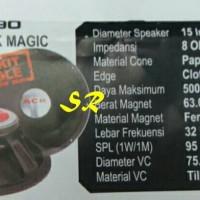 Speaker 15 inch 1590 ACR BLACK MAGIC (sepasang)