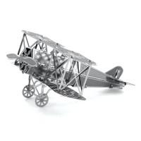 Puzzle 3D Metal FOKKER D-VII, Miniatur Pesawat 3D Perang Dunia I
