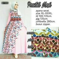 Long Dress Maxi Wanita Muslim motif jumbo prastuti XXXL busui pink
