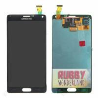 LCD + TOUCHSCREEN SAMSUNG N910 GALAXY NOTE 4 HITAM ORIGINAL 100%