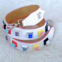 Jual Studded Bag Strap White Candy Fendi Inspired Murah