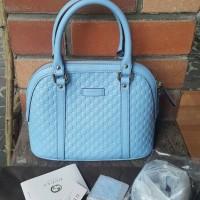 Tas Gucci Mini Dome Blue Micro GG Deep Cobalt Asli / Ori / Authentic