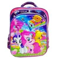 Tas Ransel Sd My Little Pony 5D Timbul + Kotak Pensil Import- Pink