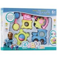 Jual Rattle Playset Krincingan Gigitan Teether/Mainan Anak Bayi Baby Toys Murah