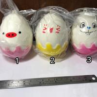 Squishy Telur JUMBO | Gantungan Kunci Sekuisi
