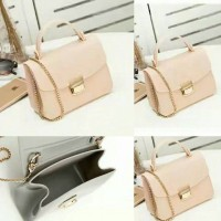 UT1534 glossy mini hand bag peach Tas import / tas wanita / handbag