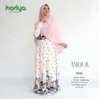 Gamis & khimar amour pink ori horiya