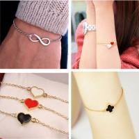 One Direction Infinity 8 Heart Flower Bracelet Women Wedding Jewelry A