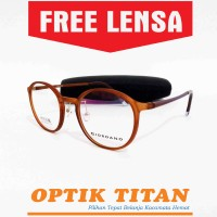 Jual Frame Kacamata Minus Lentur Branded Giordano 6278 Coklat Murah  Murah