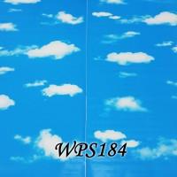 WPS184 ONLY CLOUD WALPAPER DINDING WALL PAPER STIKER STICKER