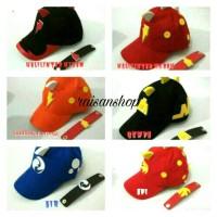 Topi Anak Boboiboy ( Halilintar, Api, Air, Gempa )