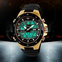 Jual Jam Tangan Pria Anti Air SKMEI Dual Time Digital Waterproof Murah
