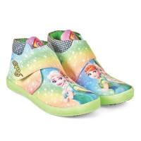 Sepatu Anak Perempuan - Sepatu Motif Gambar Barbie Frozen - Boot Pesta
