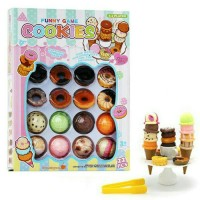 mainan Anak Perempuan Funny Game Ice Cream Tower Stacking donut