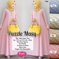 Maxi Dress Muslim Long Dress Gamis Baju Wanita PUZZLE MAXI