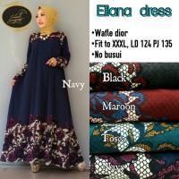 Long Dress Baju Wanita Gamis Maxi Dress Muslim ELIANA DRESS
