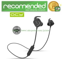 QCY QY12 Earphone Bluetooth Olahraga Magnet Detach dengan Mic - Black