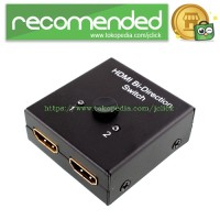 HDMI Bi-Directional 2x1 Switch or 1x2 Splitter Selector 2 Port 3D 1.4V