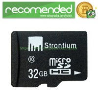 Strontium Basic MicroSDHC Class 10 32GB - SR32GTFC10R - Black