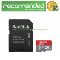 SanDisk Ultra microSDHC Card UHS-I Class 10 (80MB/s) 32GB with SD Card