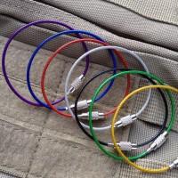 Tali Besi Carabiner Metal Stainless Steel Wire Rope Keys Hanging