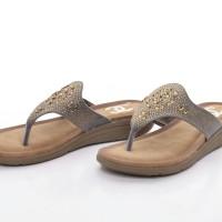 Sandal Chanel Casual T-Strap Flower Beads ABU ABU Semprem 215