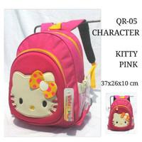Jual Tas Ransel/Punggung/Backpack/Tas Skolah Anak TK Hello Kitty Embos Pink Murah