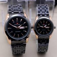 jam tangan pasangan Swiss Army 77L semi premium plus box kancing