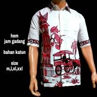 kemeja batik pria||jam gadang