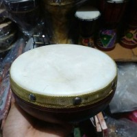 Alat Musik Hadroh Rebana Qosidah Diameter 16 cm Kayu Mahoni